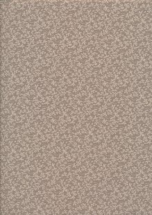 Tonal Sprig - Cream On Brown