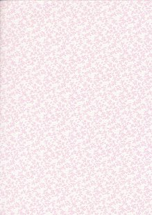 Tonal Sprig - Pink On White