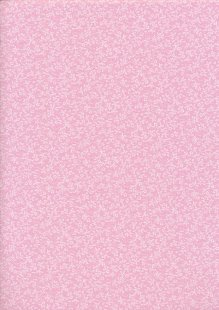 Tonal Sprig - White On Pink