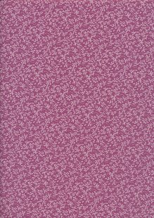 Tonal Sprig - White On Plum