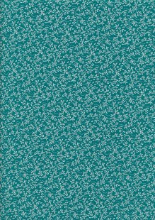 Tonal Sprig - White On Teal