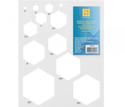 EZ Hexagons Template Sheet
