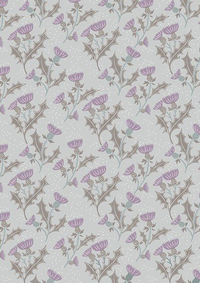 Lewis & Irene - The Glen A89.1 - Thistle on light grey