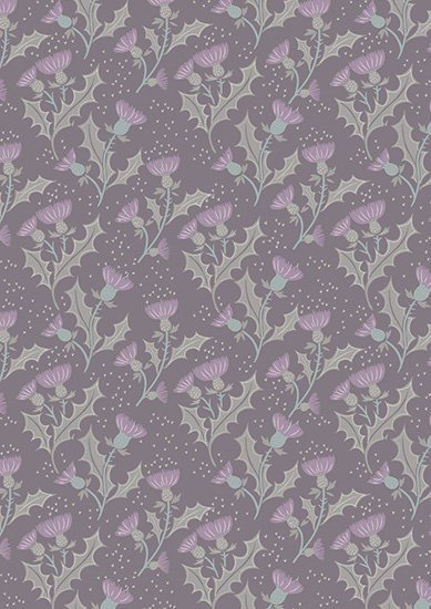 Lewis & Irene - The Glen A89.2 - Thistle on warm grey