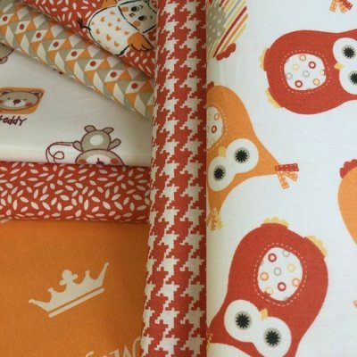 Je Ne Sais Quoi Collection Bundle - Orange Coordinating 7 Fat 1/4s