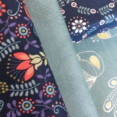 Lewis & Irene Home Sweet Home Fabric Bundle - 4 x 1/2 Metres G