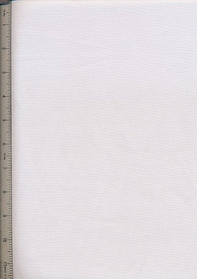 Purse Friendly Print - Plain White - 100% Cotton Fabric