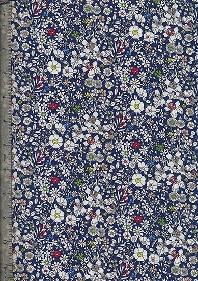 Liberty Cotton Print - Blue Small Floral