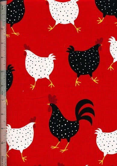 Novelty - Fun Red Chickens