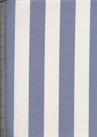 Canvas Cotton Stripe - Cream & Blue