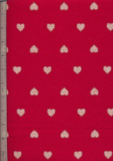 John Louden - Scandi Christmas Red Opaque Hearts