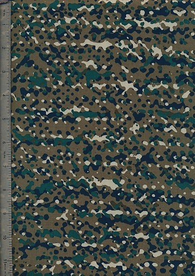 "Cotton Sateen Print 60"" Wide - Green Cammoulfage"