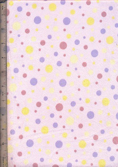 Short Pile Printed Minky - Baby Pink Spot