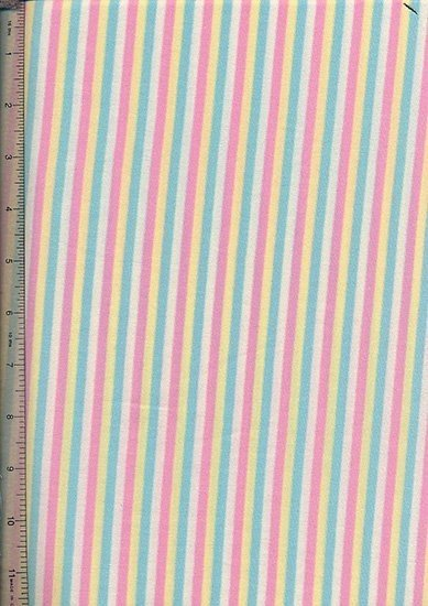 Novelty Jersey Fabric - Multi Stripe