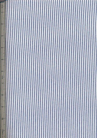 Novelty Jersey Fabric - Blue Pinstripe