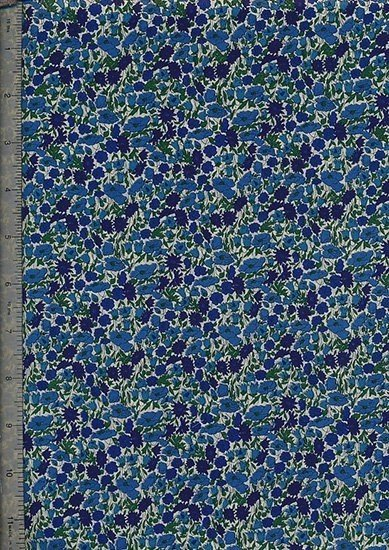 Liberty Tana Lawn - Cream With Small Blue Foral