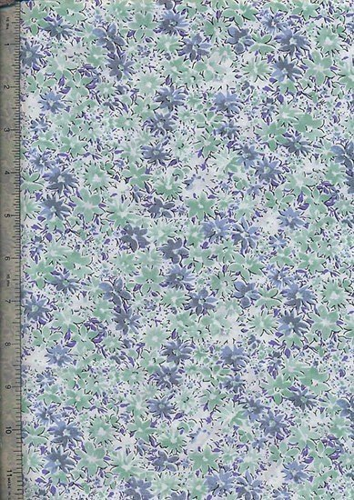 Peter Horton's South Island Lawn Collection - White With Green And Blue Floral