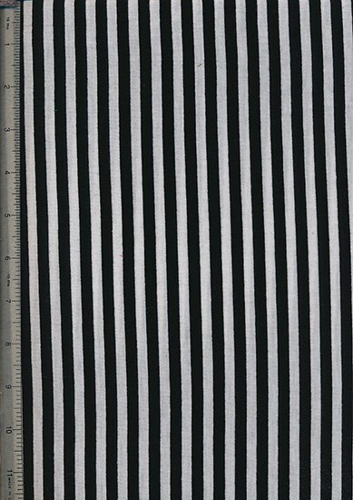Novelty Jersey Fabric - Black Stripe