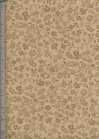 Ex-Wide Backing Fabric - Brown Vine