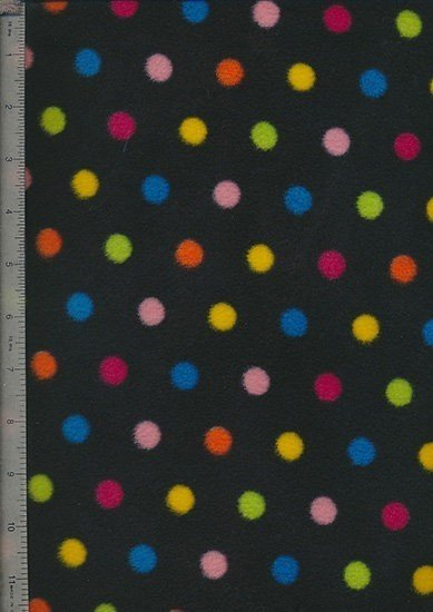 Purse Friendly Fleece Print - Black Spots