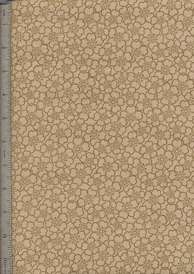 Ex-Wide Backing Fabric - Brown Flower