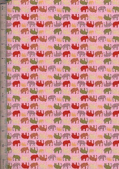 Quality Cotton Print - Pink Elephants MP031-1