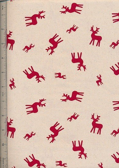 John Louden - Scandi Christmas Natural Red Reindeer