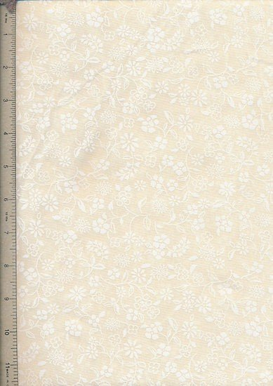 Ex-Wide Backing Fabric - White On Cream