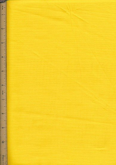 Purse Friendly Print - Plain Yellow - 100% Cotton Fabric