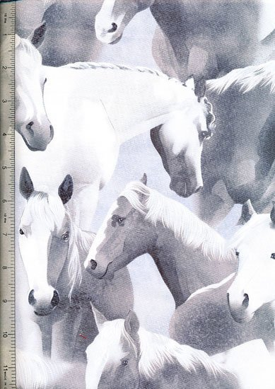 Novelty - White Horses