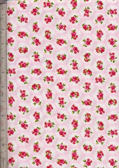 Purse Friendly Print - Rosy Cloud Pink - 100 % Cotton Fabric