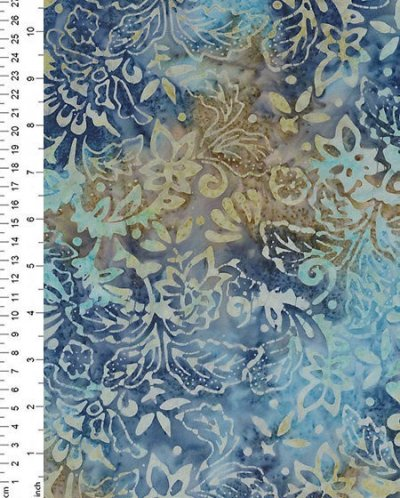 Fabric Freedom Bali Batik - Blue 4