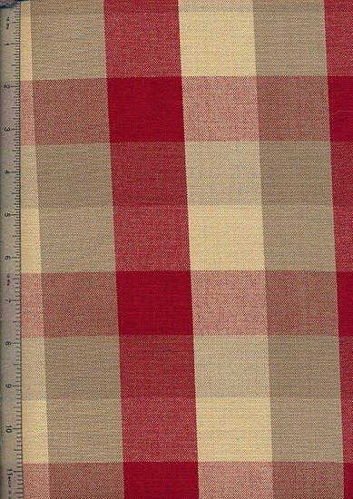 Canvas Check  - Red & Cream