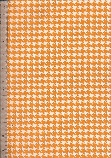 Je Ne Sais Quoi - Houndstooth Orange