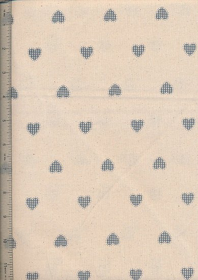 John Louden - Scandi Christmas Natural Blue Opaque Hearts