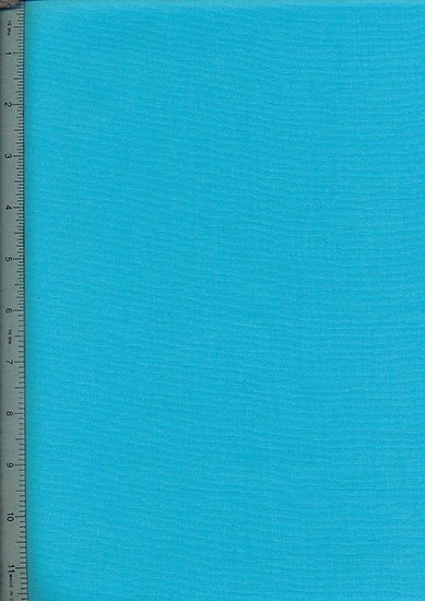 Purse Friendly Print - Plain Turquoise - 100% Cotton Fabric