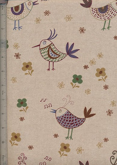 Linen Look Cotton - Funky Chicken 8376-06