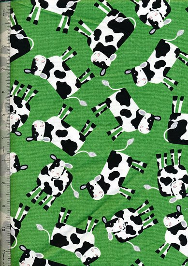 Novelty - Green Cows
