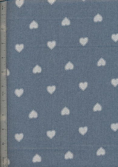 John Louden - Scandi Christmas Blue Opaque Hearts