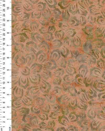 Fabric Freedom Bali Batik - Orange 2