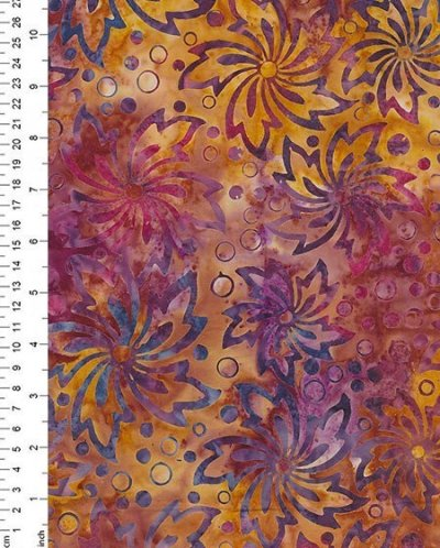 Fabric Freedom Bali Batik - Orange 7