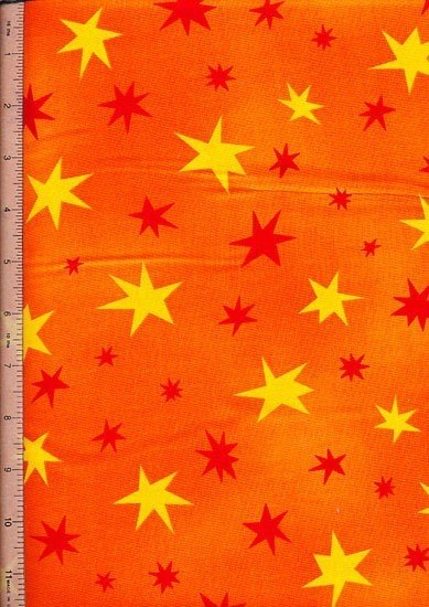 Novelty - Orange Stars