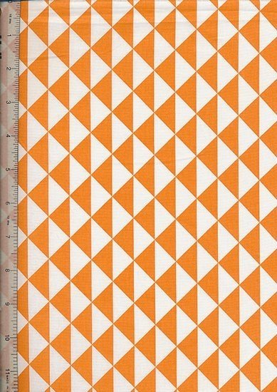 Je Ne Sais Quoi - Geometric Chevron Orange