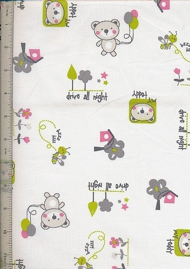 Je Ne Sais Quoi - Teddy Bear & Bee Pink & Green