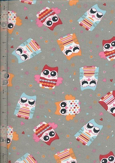 Je Ne Sais Quoi - Cariacture Striped Owl Grey
