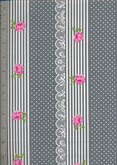 Je Ne Sais Quoi - Vintage Rose Border Grey