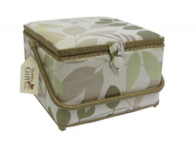Large Sewing Box - Basket Green Leaf GB1021