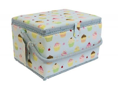 Large Sewing Box - Blue Cupcakes MRL/18