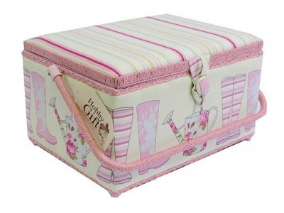 Large Sewing Box - Large Boot Pink GB1123