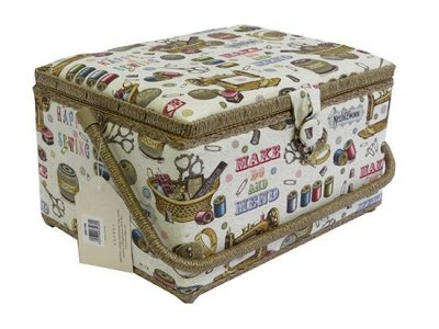 Large Sewing Box - Large Ivory Sewing GB1156